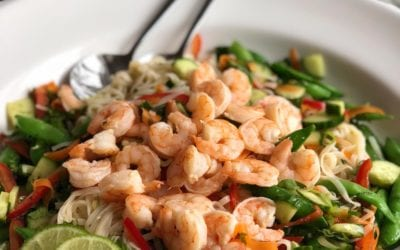 Shrimp and Rice Noodle Salad